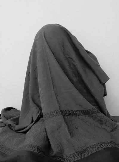 Hanifa Alizada. 1400 years of sameness, 2011. black-and-white photograph, h 47 in x35in