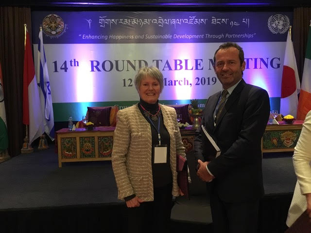Mme France Marquet SAF representative to UNESCO with Mr. Eric Falt, Regional Director at UNESCO in Round Table Meeting in Bhutan